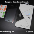 9H Hardness Anti-scratch Fingerprint resistant 0.3mm Ultra-thin Tempered Glass Screen Protector for Samsung Galaxy A3 A3000