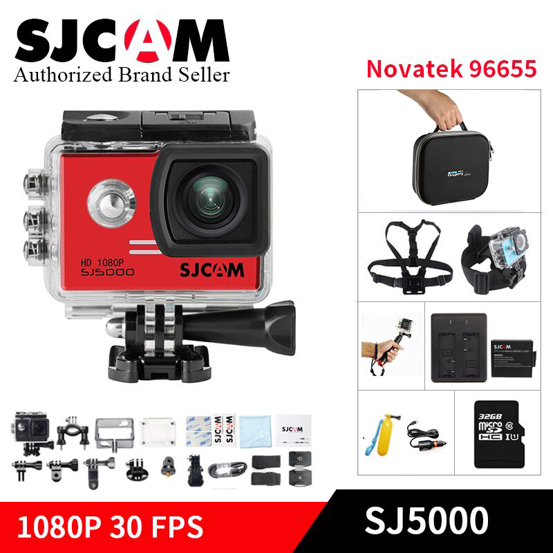 Original SJCAM SJ5000 action kamera Novatek96655 14MP Tauchen 30 mt Wasserdichte Mini DVR Sport DV helm Camcorder go pro Sj cam