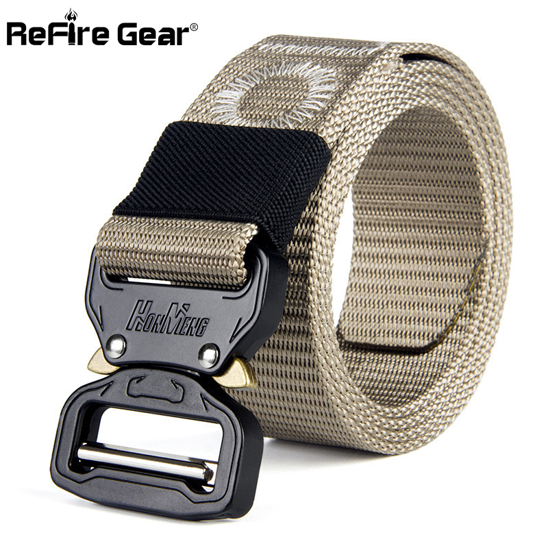Men's Belts Refire Gear Heavy Duty Army Military Belt Men Swat Special Ops Combat Tactical Belts Molle Quick Release Nylon Waistband 3.8cm To Ensure A Like-New Appearance Indefinably