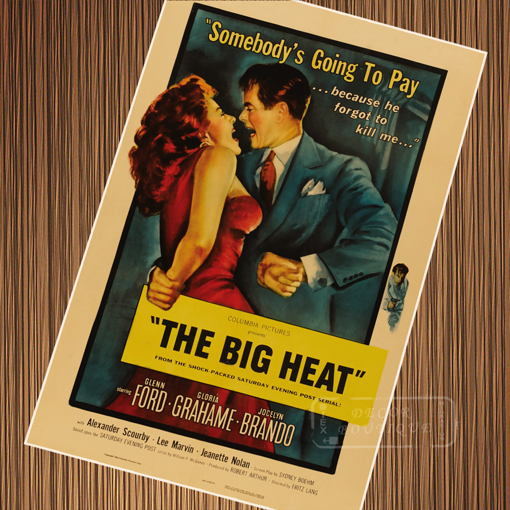The Big Heat Classic Movie Film Noir Retro Vintage Poster Canvas Painting DIY Wall Paper Home Decor Gift image