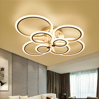 Modern LED Ceiling Lights Kitchen Fixtures For Living Dining Room Home Lighting Acrylic Black Bedroom Lamp With Remote Control