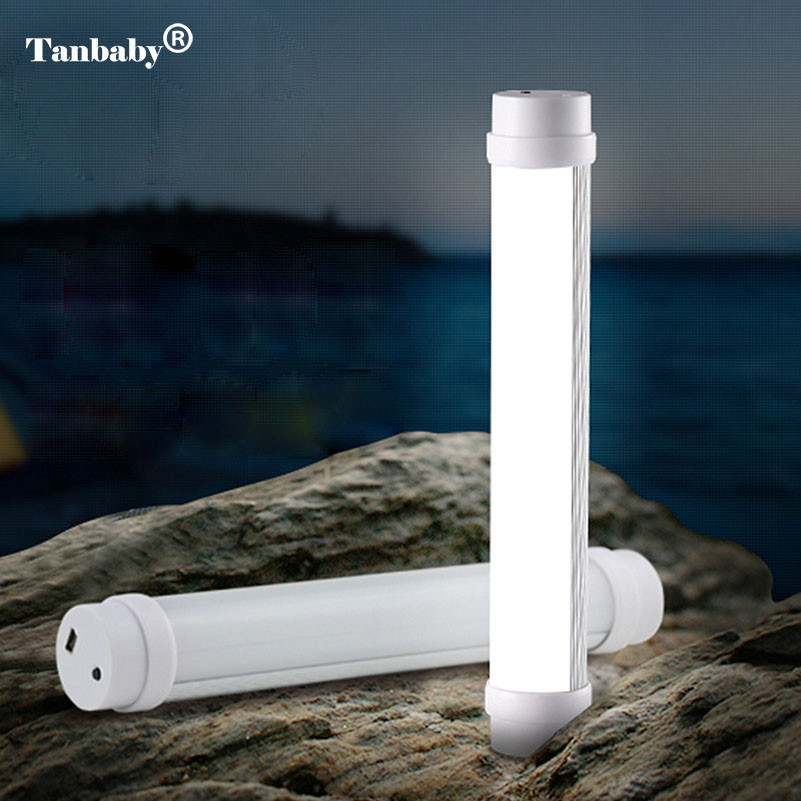 Tanbaby Rechargeable Led Emergency Nigh light White dimmable Flashlight 5 Model portable Tube lamp for Outdoor camping hiking ground lamp 50w l2 rechargeable led floodlight spotlight handle emergency flashlight mobile outdoor camping light hiking lamp