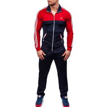 ZOGAA 2019 Plus Size XS-4XL Mens Sets 2 Piece New Men Fashion Jacket and Sport Pants Set Tracksuit Casual Sports Suit