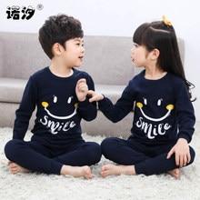 d0b4bf5220f30e Dzieci chłopcy piżamy dziewczynka wiosna bawełna ustawia dzieci Homewear  piżamy dla chłopiec piżamy dla dzieci bielizna