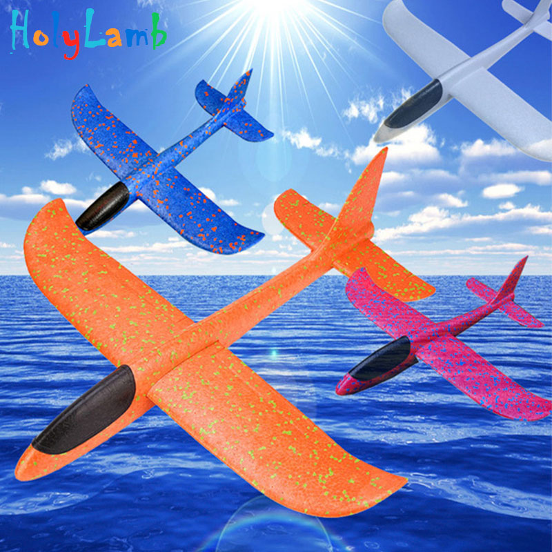 48cm Throwing Foam Palne EPP Airplane Flying Model Plane Glider Aircraft Model Outdoor DIY Educational Toys Kite Kitesurf Toys