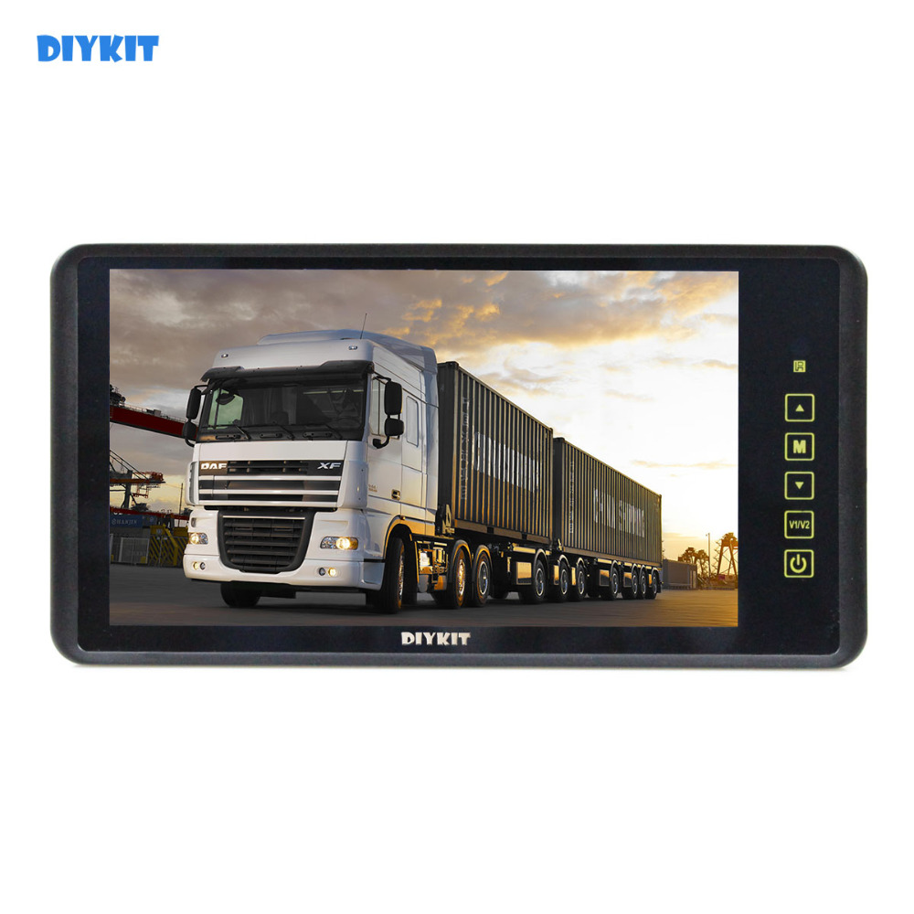 DIYKIT 9 Inch TFT LCD Display Rear View Car Mirror Monitor With 2 Video Input for Parkign System Car CCD Camera Cam / DVD