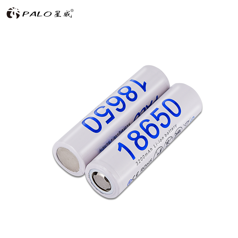 Image 2 - PALO 2PCS 18650 3.7v 3200mah rechargeable battery reachargeable batteries 3200mah li ion 18650 battery-in Rechargeable Batteries from Consumer Electronics