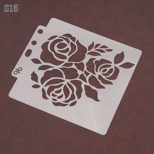 Roses Layering Stencils For Diy Scrapbook Coloringpainting Stencil