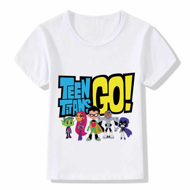 Children Cartoon Teen Titans Go Funny T shirt Kids Summer Casual Tops Baby  Boys Girls Cute db42ab1264e2