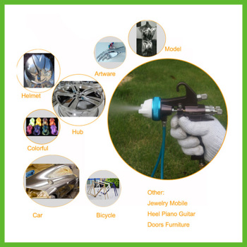 цена на SAT1202 Paint Sprayer  Spray Gun Airbrush High Pressure Spray Gun Personalized Spray Guns Double Nozzle Sprayer