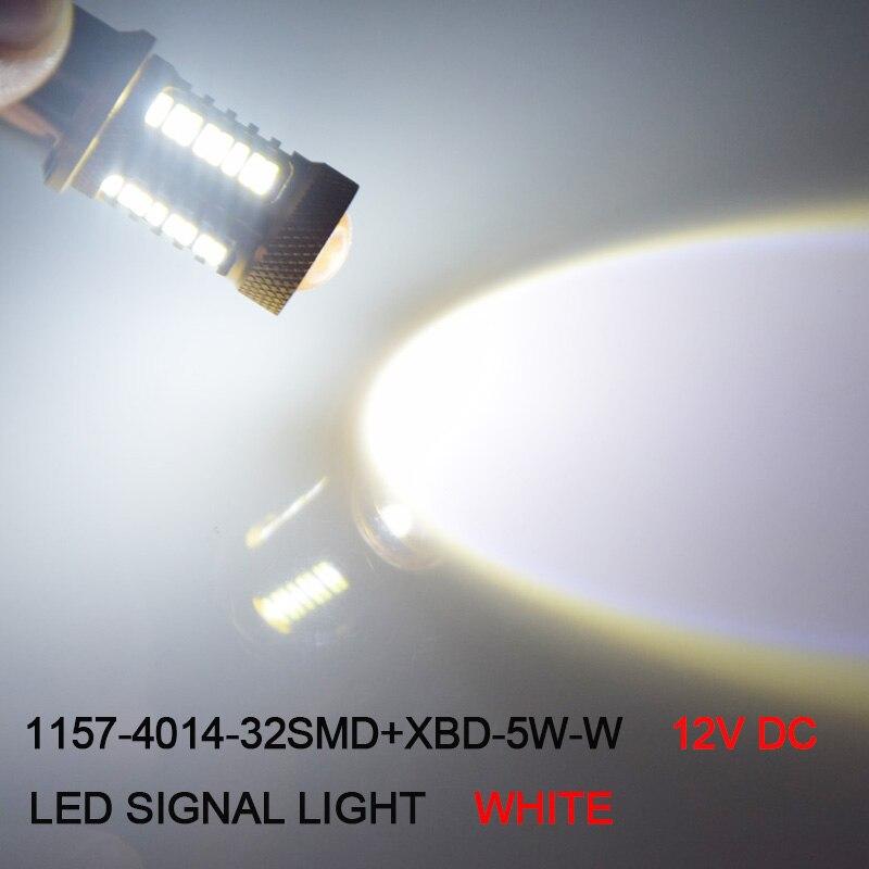 2 шт. 1157 BAY15D светодиодных ламп автомобиля 32 SMD Samsung чип 4014 XBD чипы высокое Мощность лампа P21/5 вт Задние огни Источник Парковка Белый 12 В