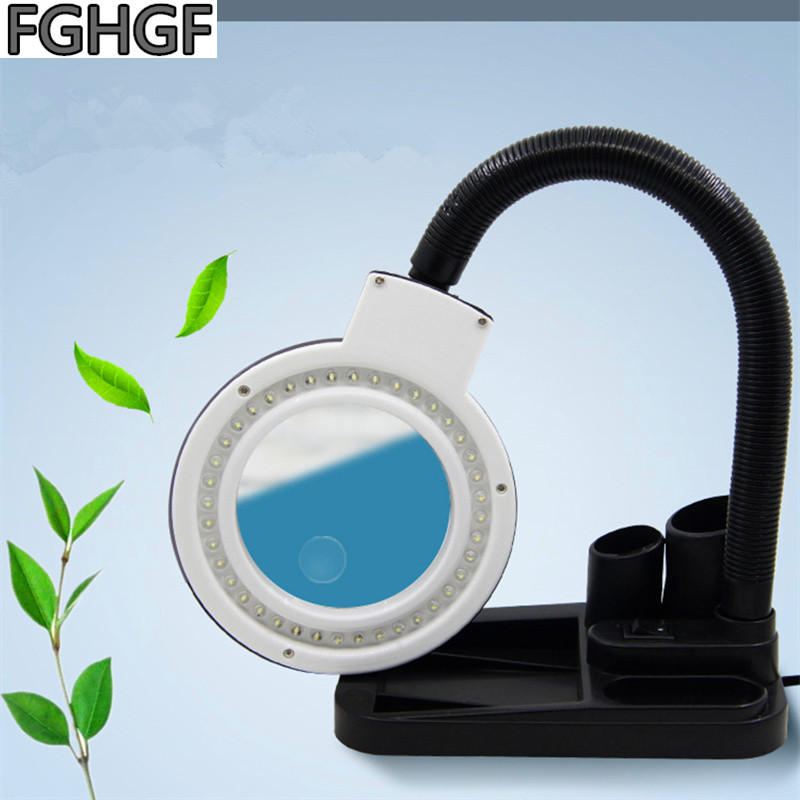 FGHGF 40 LED Light Magnifier Table Lamps Watch Engraving Lamp Zoom in 10 Times PCB Welding Work Light Craft Production Manicure in Magnifiers from Tools
