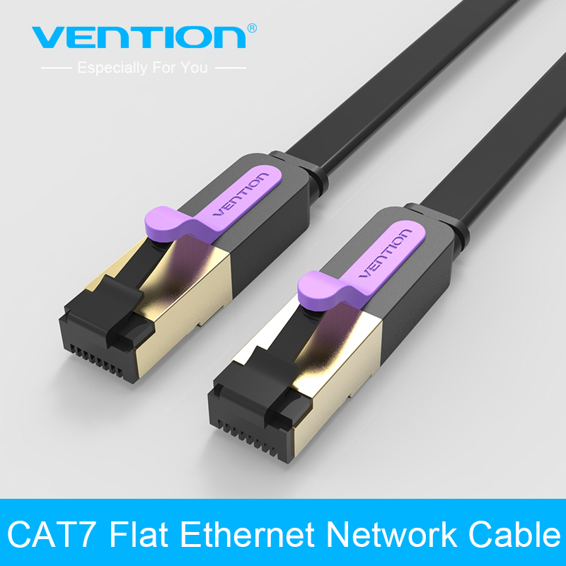vention cat7 network cable rj45 flat lan cable cat 7. Black Bedroom Furniture Sets. Home Design Ideas