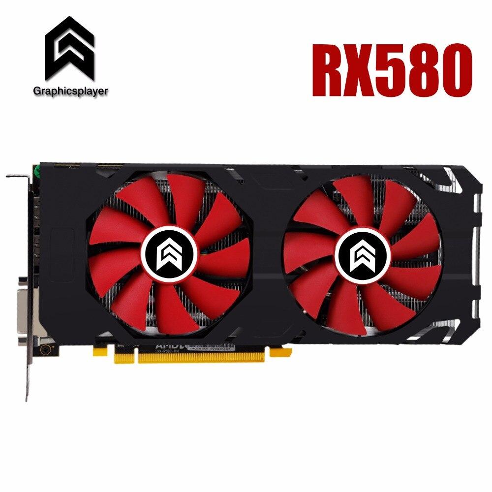 Carte graphique PCI-E 16X3.0 RX580 GPU 8g DDR5 pour ATI Radeon D'origine puce Ordinateur PC jeu Vidéo carte
