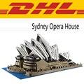 2017 Nueva LEPIN 17003 2989 Unids City Creator Serie Sydney Opera House Kits de Edificio Modelo Bloques Ladrillos Compatibles Juguetes de Regalo 10222