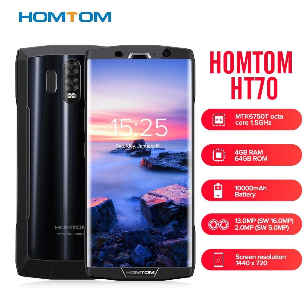 HOMTOM HT70 Smartphone 6.0 ''18:9 Completa Dello Schermo di Android 7.0 MTK6750T Octa Core 4 gb di RAM 64 gb ROM 10000 mah Tipo-C Cellulare Mobile