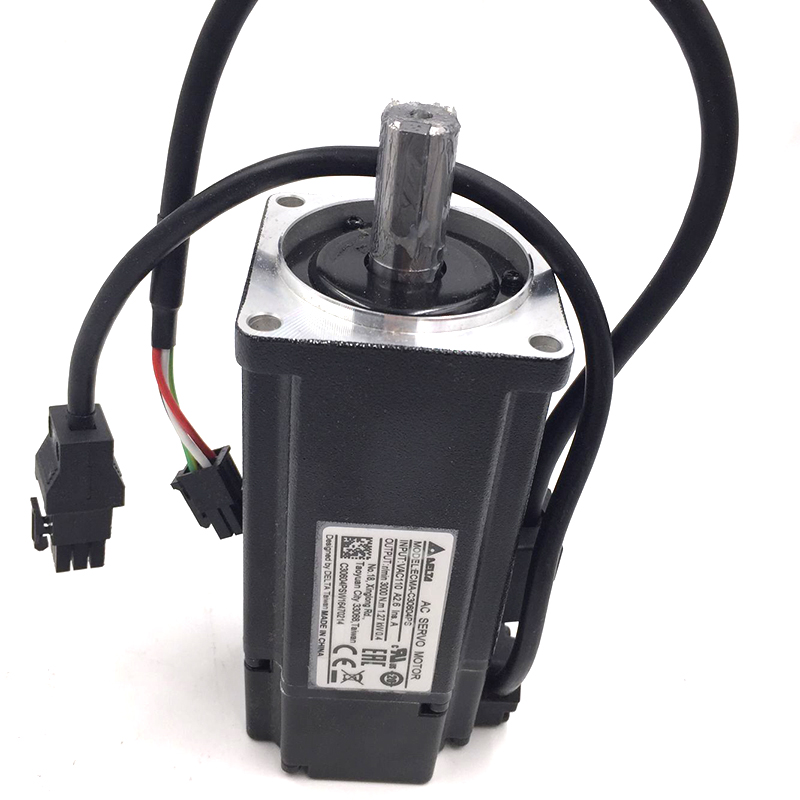 Delta 400W 0.4KW 60mm AC Servo Motor AB Series ECMA-C30604PS 220V 3000rpm with Keyway New original new delta 0 2kw 200w servo motor set asd a0221 ab ecma c30602rs 60mm 3000rpm 220v