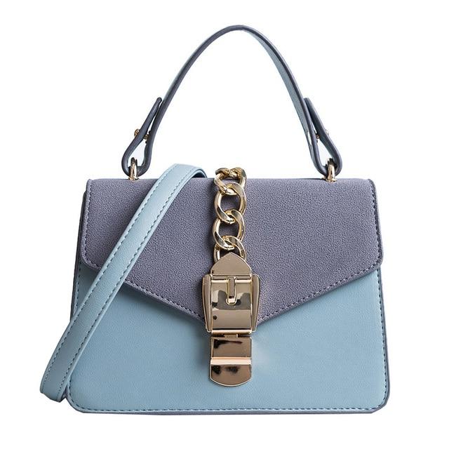 66068d8319cf US $33.9 |Suede frosted shoulder bag vintage lock handbag chain designer  crossbody bags female simple handbags women messenger bags 2017 -in  Shoulder ...