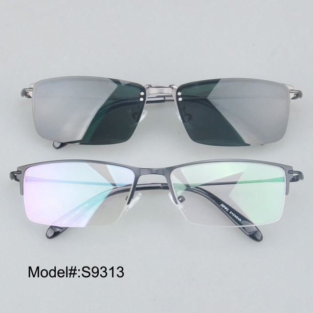 S9313 factory price  high quality half rim frames clip on sunglasses polarized sunshade UV400