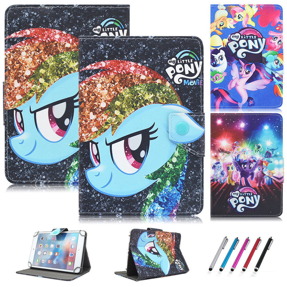 Colorful Pretty Printing My Little Pony Buckle Leather Stand Folio Cover Case For 10inch Universal 10.1inch Tablet PC худи print bar mcmxcviii 1998