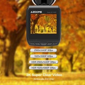 Image 3 - AZDOME DAB211 Ambarella A12 kamera do deski rozdzielczej samochodu 1440P Super Night Vision Dashcam kamera do rejestracji wideo DVR wbudowana GPS ADAS nagrywania w pętlę