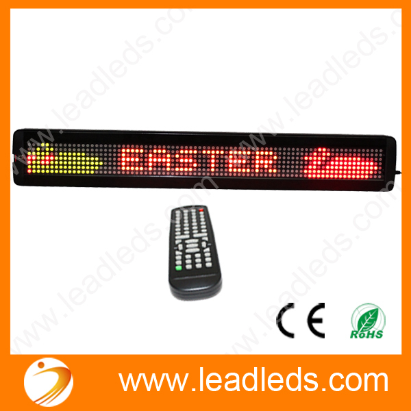 Indoor 3-color RGY 66*9.7cm Size LED Moving Scrolling Message Display Sign Board -7x80 Pixels 7.62mm Led Module