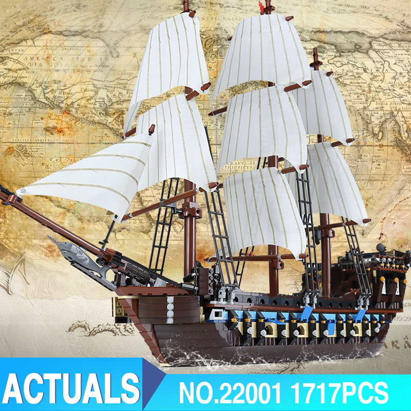 Lepin 22001 1717Pcs Pirate Ship Imperial warships Model Building Kits Block Briks Toys LegoINGlys With 10210 birthday Gift