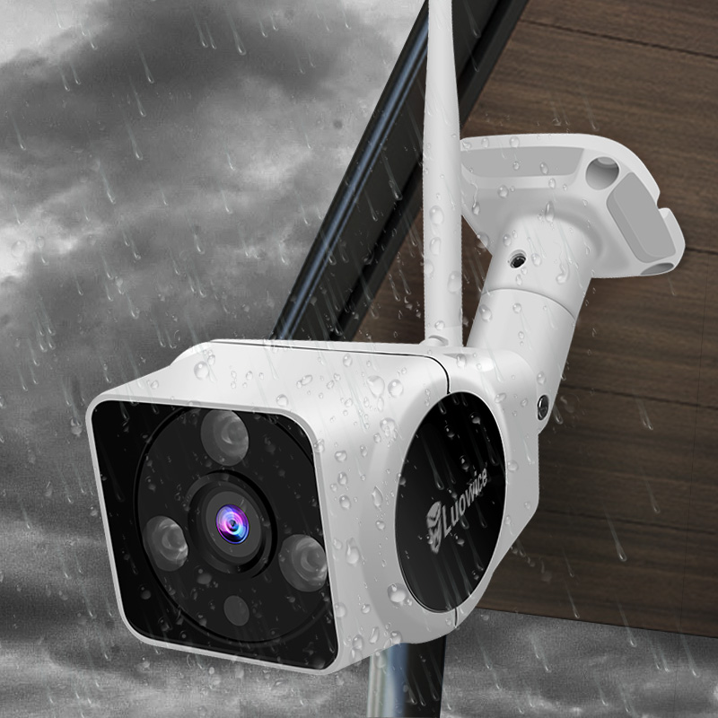 Wireless Security IP Camera with WiFi Night Vision and Alarm Action Two Way Audio 50ft font