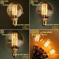 Edison Vintage lâmpada incandescente G80 G95 G125 E27 40 W 60 W 110 V 220 V lâmpada decorativa , fogos de artifício Edison lâmpada