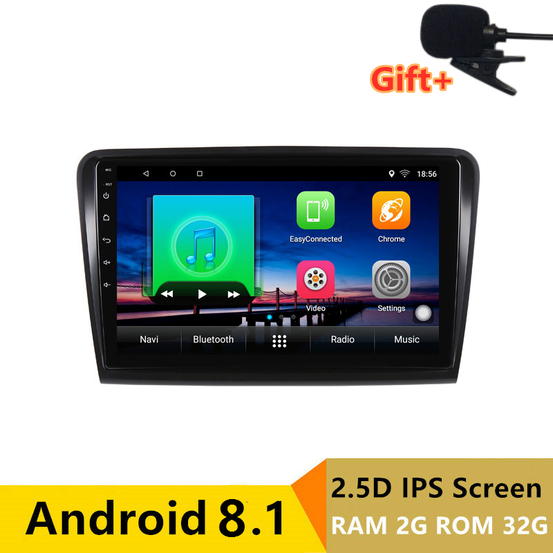 "10.1"" 2G RAM 32G ROM Android Car DVD GPS For Skoda Superb 2 2009 2010 2011 2012 2013 audio stereo car radio headunit wifi"