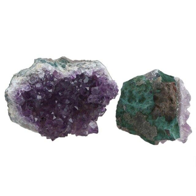 Natural Purple Amethyst Quartz Cluster Decor Geode Druzy Crystal Gem Stone Specimens