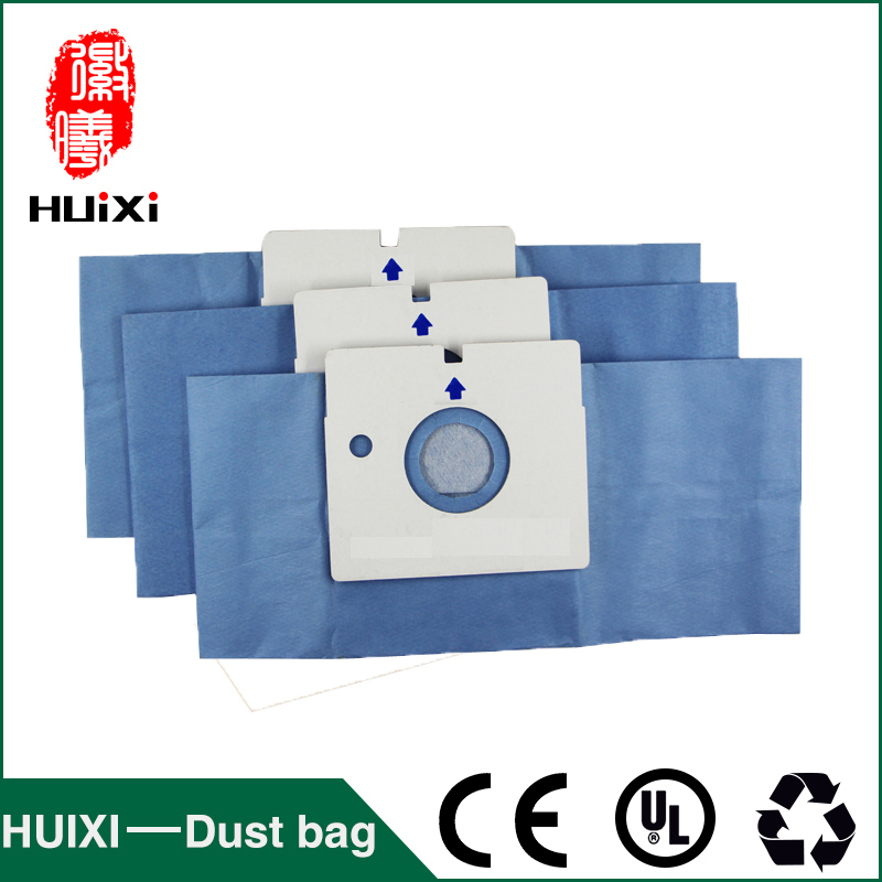 15pcs Vacuum cleaener blue paper dust bags and change bags of household vacuum cleaner parts for V-3700Y V-982SER  V-4200HAB etc