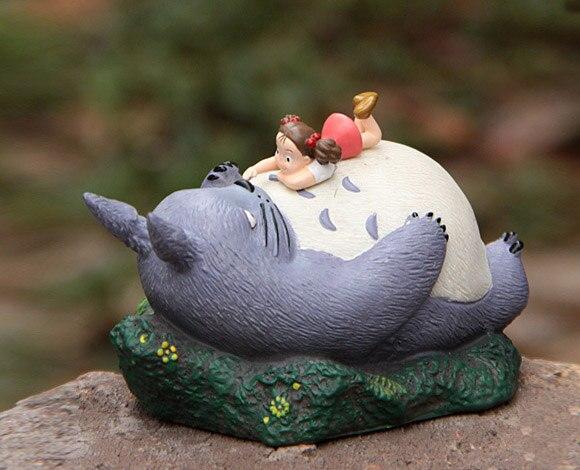 Totoro Terrarium Material Accessories Ghibli Studio Fairy Garden Miniature Girl Lying in Totoro DIY Accessories