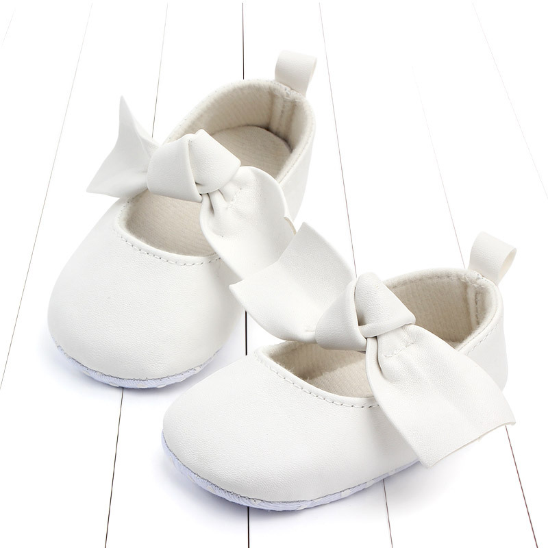 PU Leather Baby First Walkers Shoes Bow Soft Soled Anti-slip Footwear Crib Baby Girl Shoes Infant Toddler Best Gifts for Newborn (7)