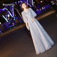 Kyunovia 2019 New formal dress women elegant party vestido de noiva formal appliques long dress evening dresses E02