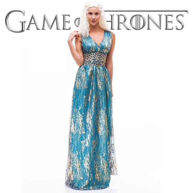 Jurk Bruiloft Blauw.Game Of Thrones Daenerys Targaryen Jurk Cosplay Bruiloft Blauw
