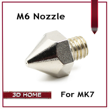 10 шт. M6 Из Нержавеющей Стали 0.2 мм/0.3 мм/0.4 мм/0.5 мм Экструдер Насадка Печатающей Головки для Mk7 Makerbot Общего Пользования Для 3d-принтер
