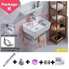 Мини настенный умывальник маленькая квартира ванная комната подвесной умывальник треугольник балкон раковина для умывания керамическая тарелка для бассейна простая