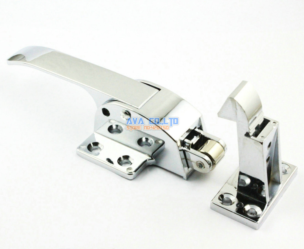 цены Latching Type Airtight Chromed Plate Handle for Freezer Door
