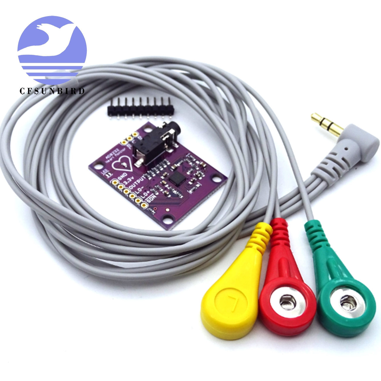 8232 AD8232 Cardiac Electrophysiology Measuring The Pulse Of The Heart ECG Monitoring Sensor Module Kit