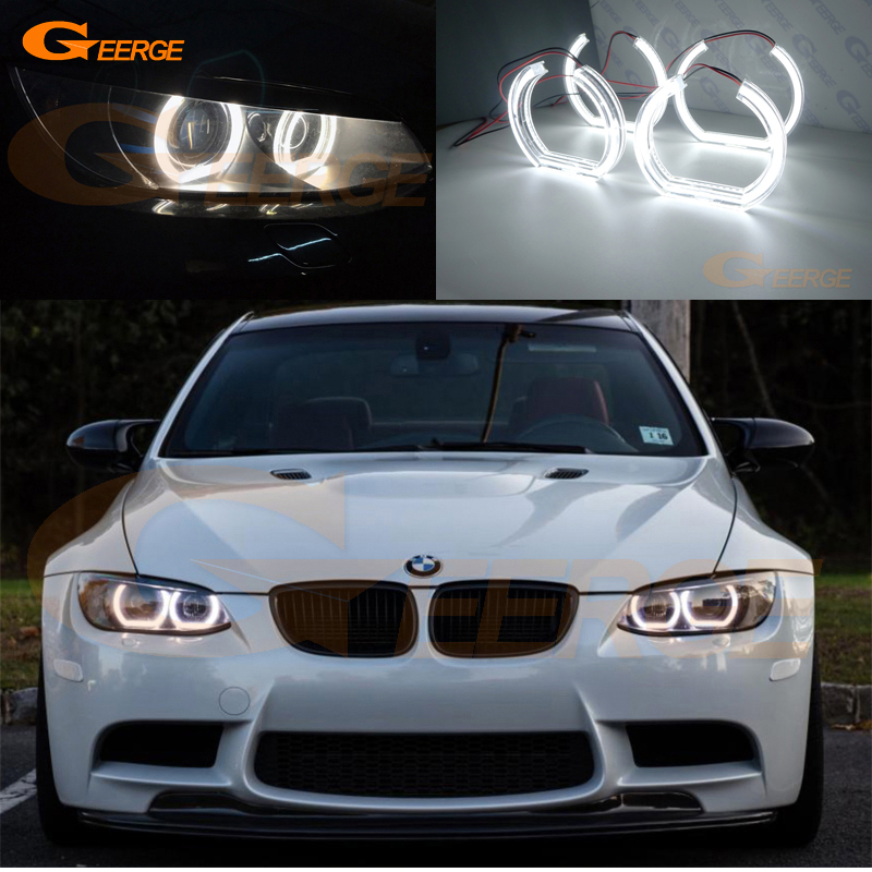Us 63 23 13 Off For Bmw 3 Series E90 E92 E93 M3 2007 2013 Coupe Cabriolet Xenon Headlight Excellent Dtm Style Ultra Bright Led Angel Eyes Kit In Car