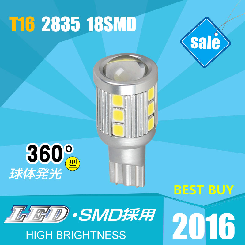 Pair Sale T16 Automobiles LED Cars Bulbs Reverse Lights High Power 9W 6000K Brightest White18SMD