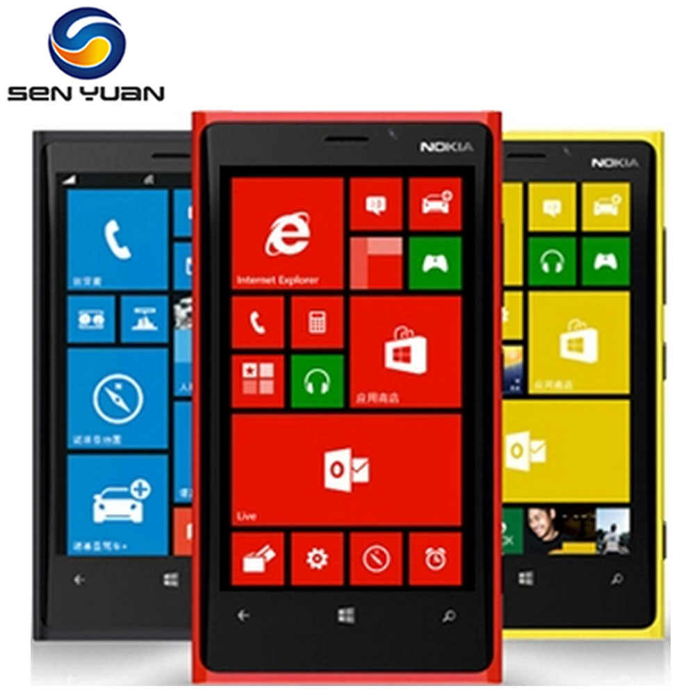 920 Original Nokia Lumia 920 GPS WiFi 3G & 4G 32GB ROM 1GB RAM 8MP Kamera entsperrt Windows handy handy