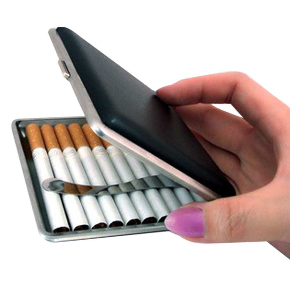 New Fashion Leather Pocket Cigarette Tobacco Case Box Holder Tobacco Storage Case Gift Hot Sale