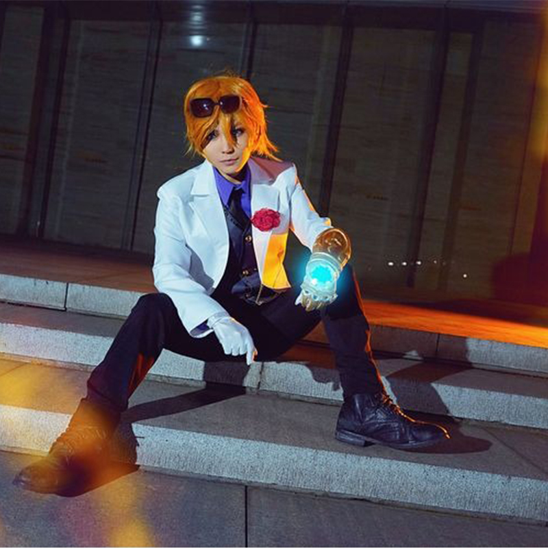Fashion Game LOL Ezreal The Prodigal Explorer Cosplay Costume Formal Suit For Men Halloween Party Uniform