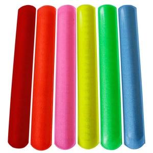 Image 5 - 100pcs  New fashion assorted colors  Magic Ruler Slap Band Bracelets  R150719
