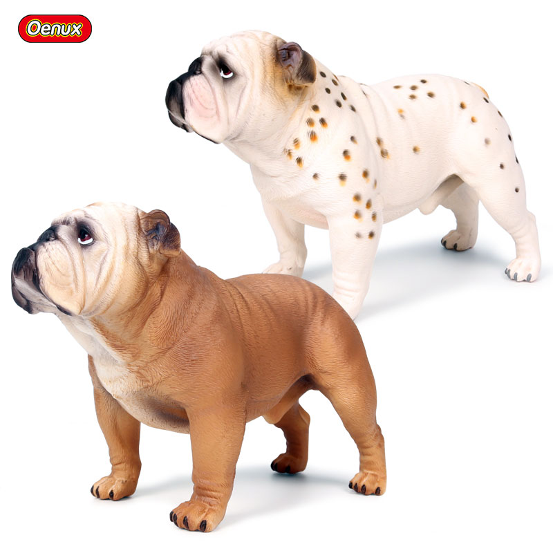 Oenux Classic Big Size 18x9x12.5cm England Bulldog Simulation Animal Model Cute Pet Action Figures PVC Lifelike Collection ToysOenux Classic Big Size 18x9x12.5cm England Bulldog Simulation Animal Model Cute Pet Action Figures PVC Lifelike Collection Toys