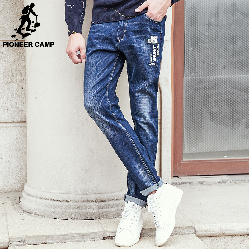 Pioneer Camp 2017 new Spring men jeans brand-clothing denim pants men top quality fashion casual trousers male jeans выключатель legrand quteo 10а 1 клавиша белый 782304