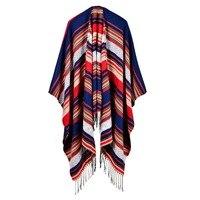럭셔리 패션 드리 워진 목도리 여성의 스카프