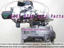 Free Ship Turbo Electric actuator CT16V 17201-OL040 17201OL040 17201-30011 For TOYOTA HILUX SW4 Landcruiser D4D 1KD 1KD-FTV 3.0L